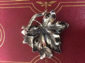Vintage 1960's Ivy Leaf Brooch signed Exquisite - hint of Copper metallic Finish(Larger Size) (Sold)